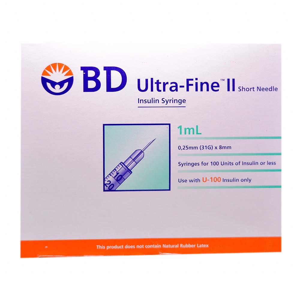 Health Shop Bd Ultrafine Ii 1cc 31g X 8mm 100s 328820 Spuit 3ml