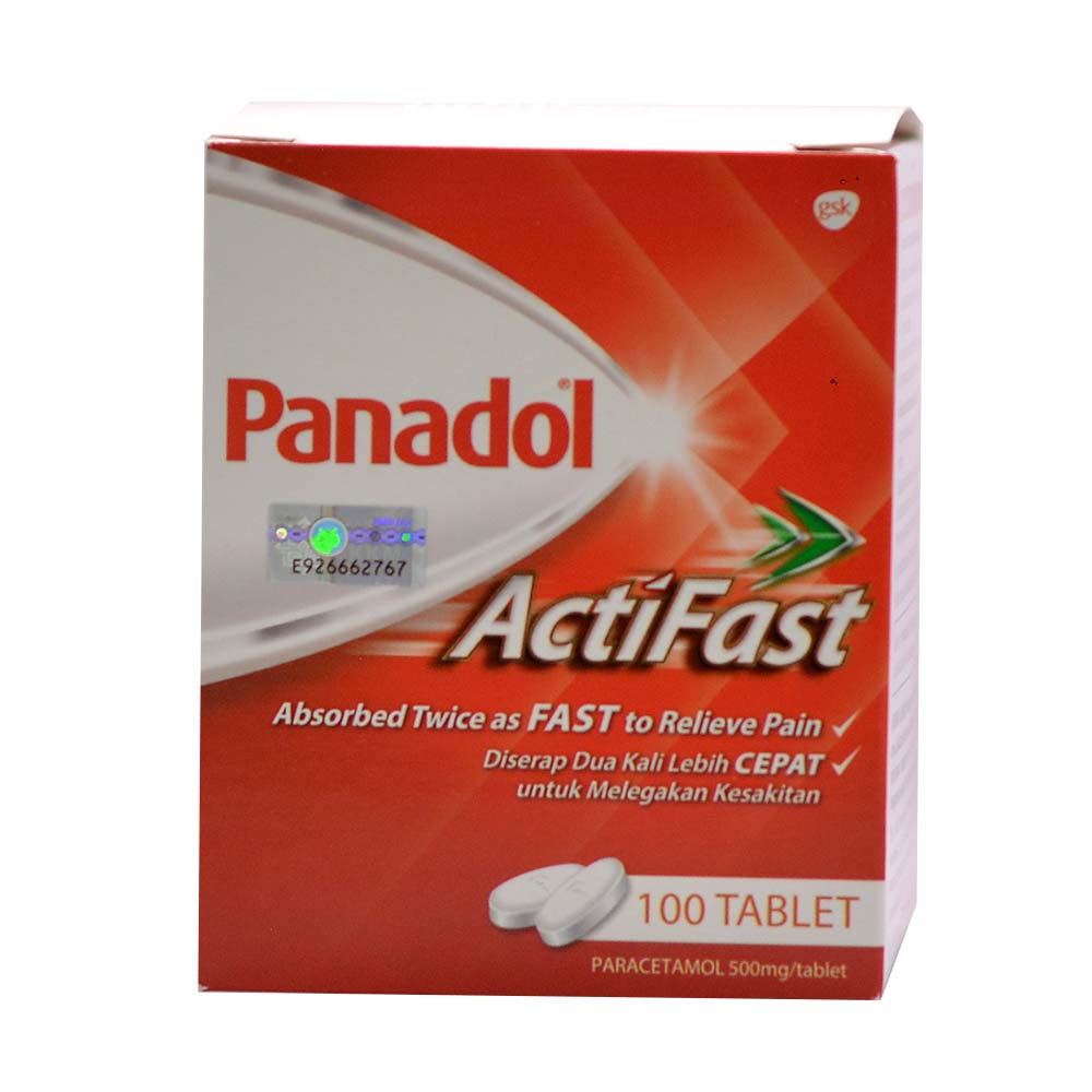 Panadol Actifast 500mg Caplets 100s