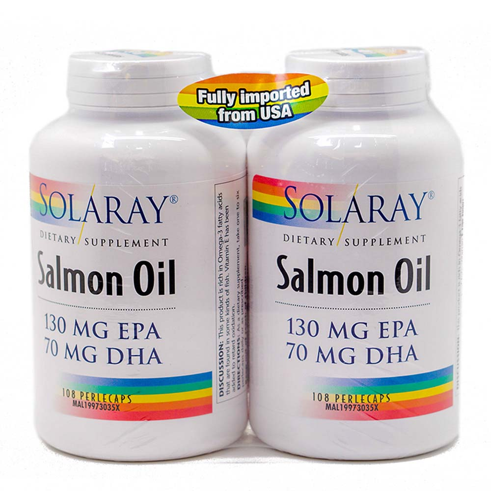 Health shop solaray salmon oil 2 x 90s for Salmon fish oil